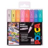 Posca 1mm Extra Fine Markers 8 Piece Pastel Set